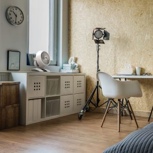 Tischventilator Zirkulator modern Büro smart