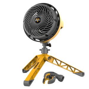 Ventilator Bauarbeiter gelb grau Testsieger