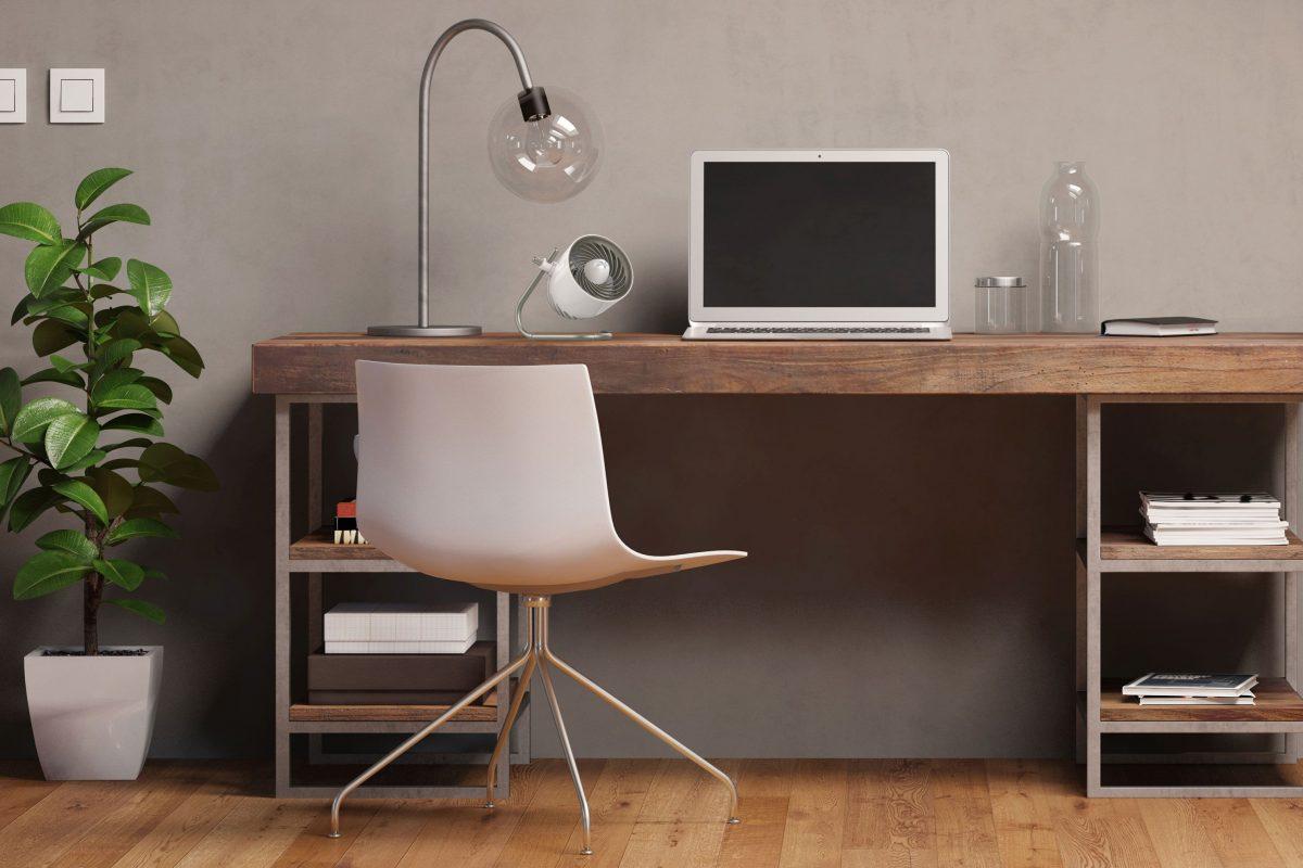 Standventilator klein Büro weiß silber