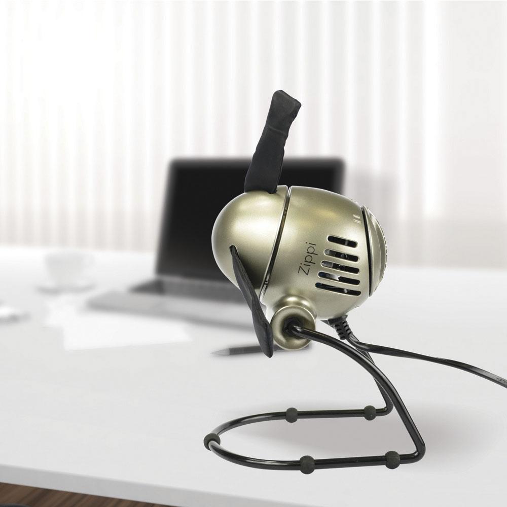 Zippi Ventilator silber modern smart klein Tischventilator