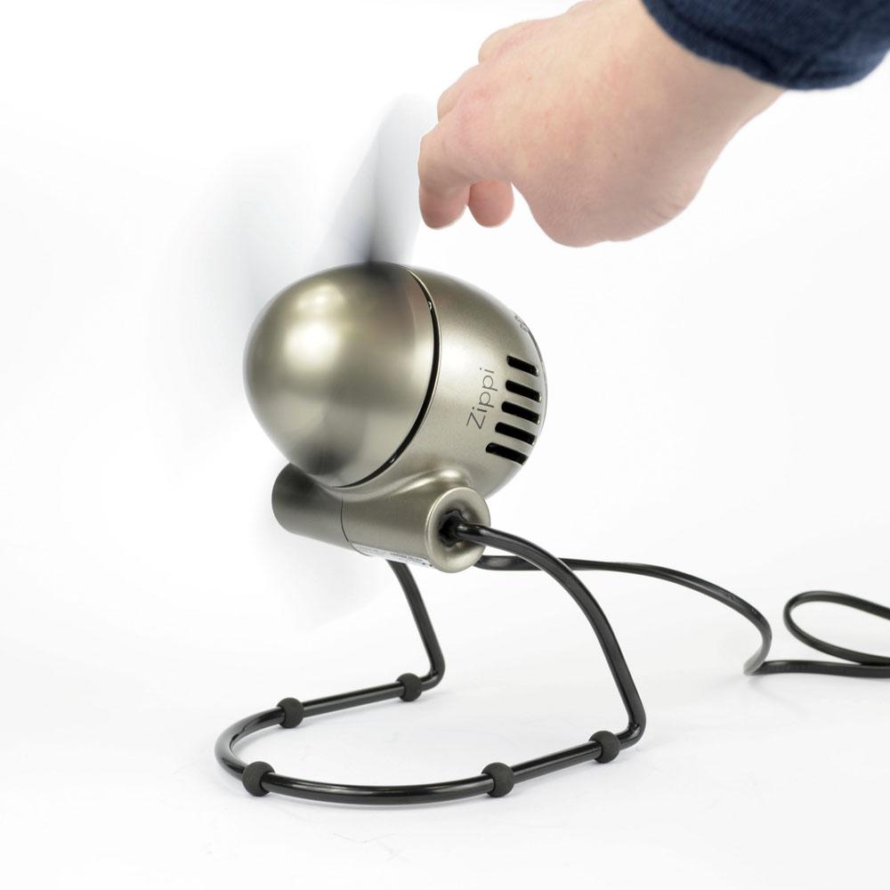 Zippi Ventilator silber modern smart klein handfreundlich